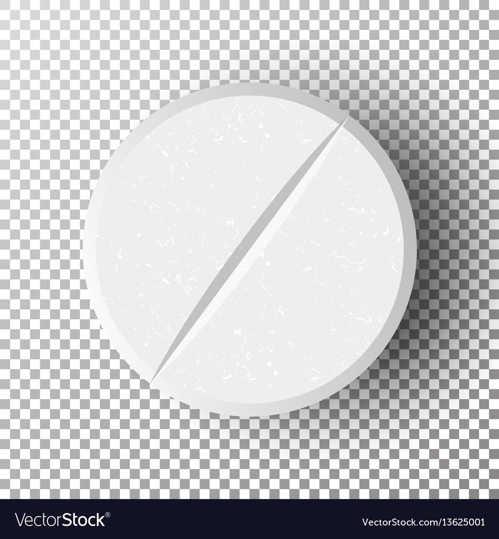 White 3d medical pill