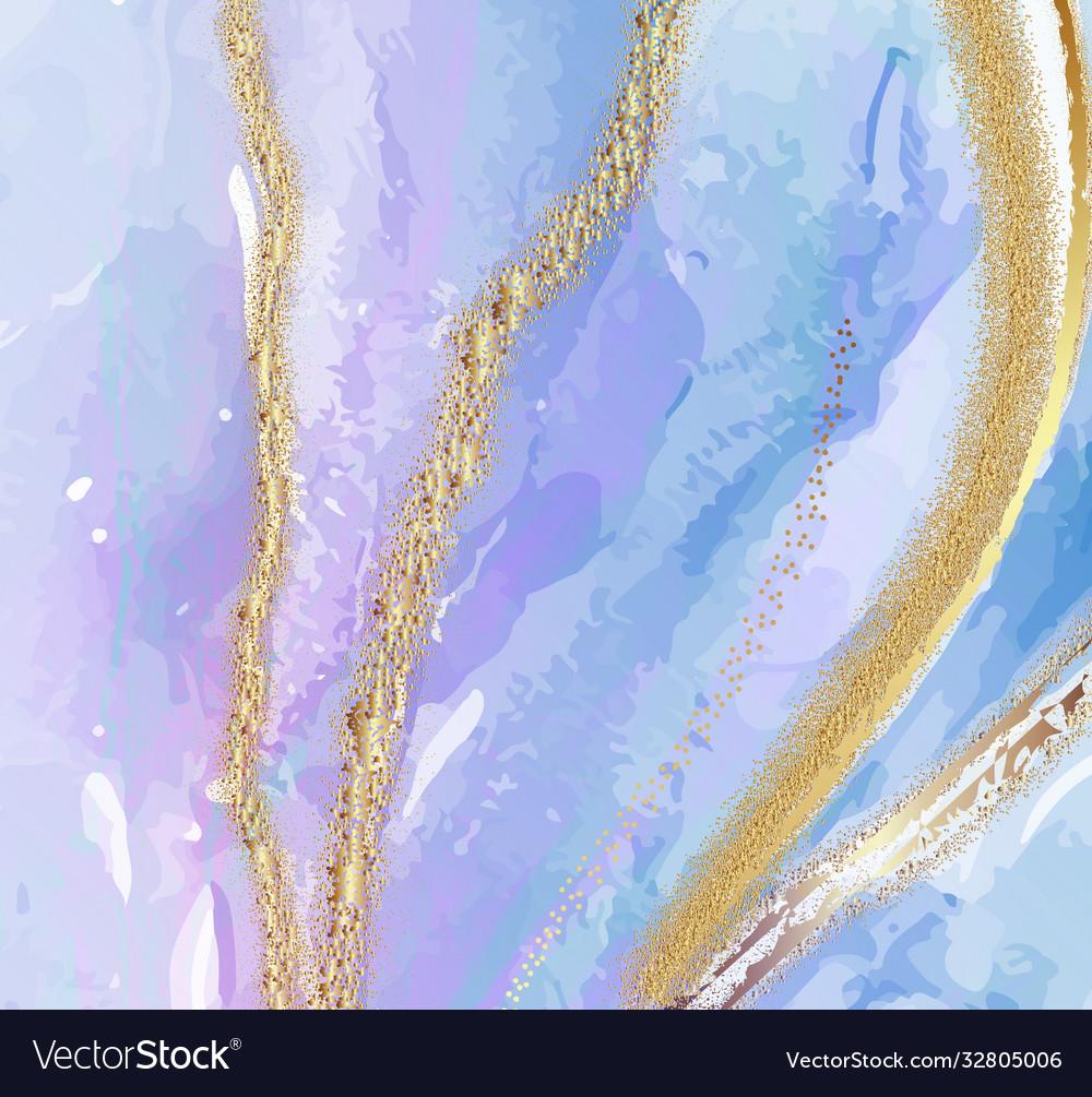 Blue violet color watercolor subtle sky resin art