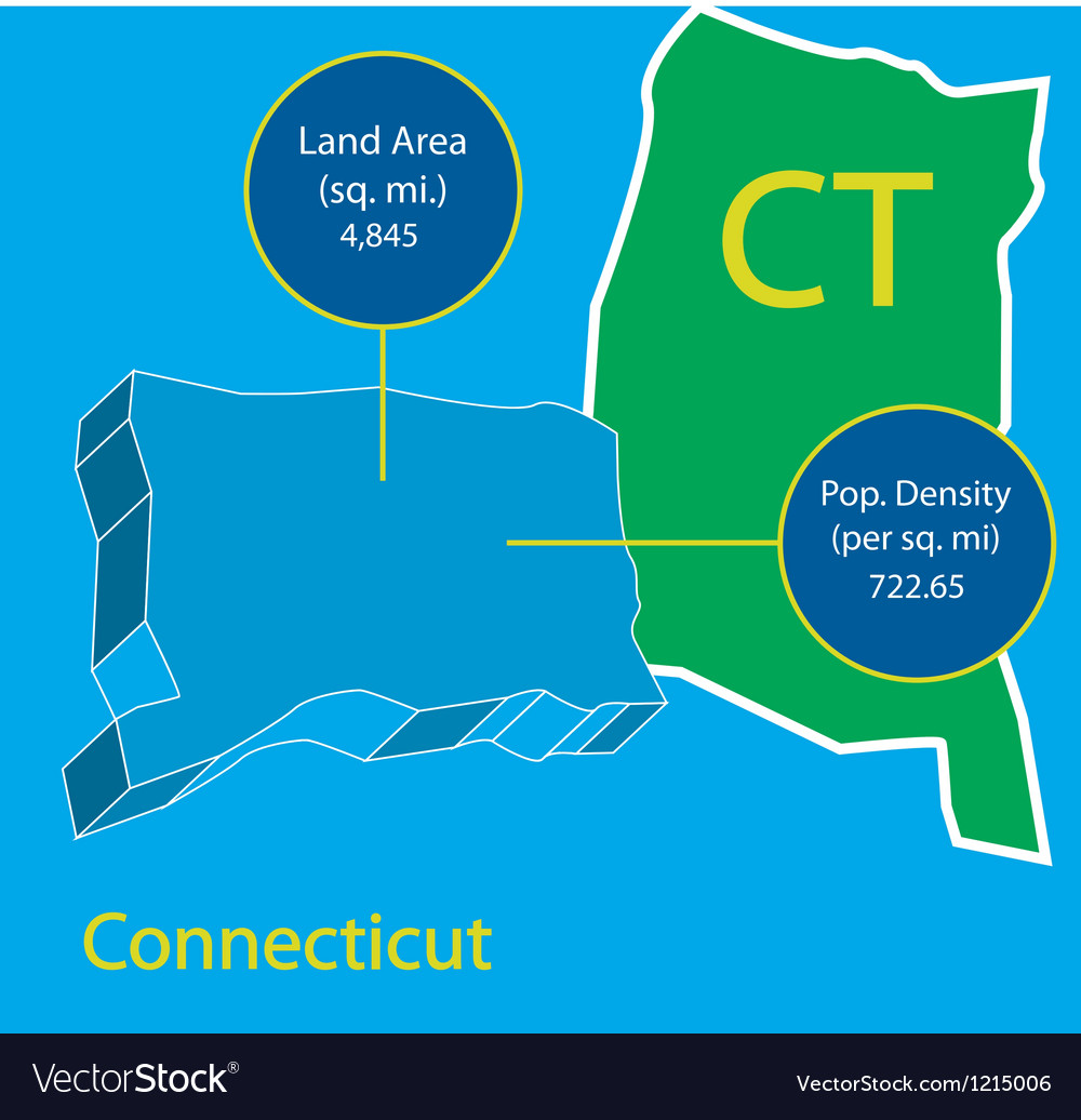 Connecticut 3D info graphic vector image