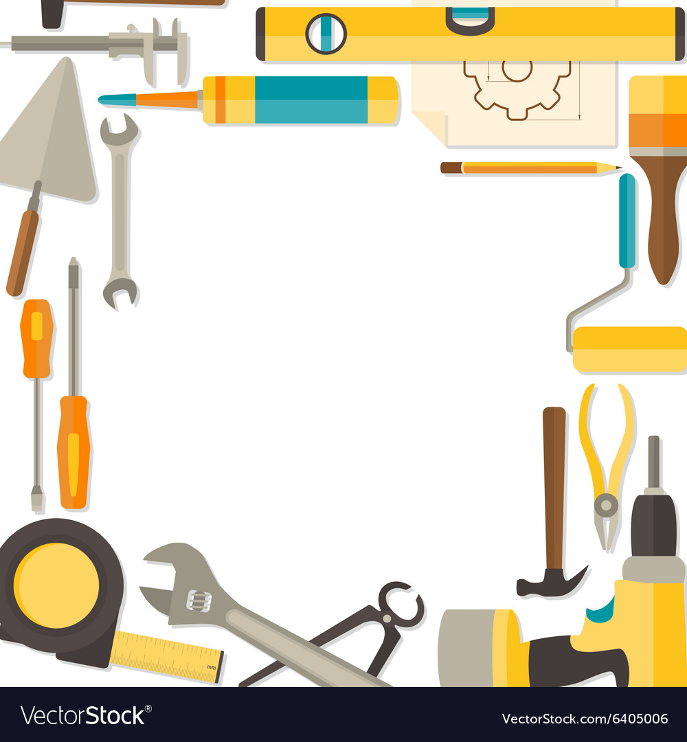 Flat design background with do it yourself vector image solutioingenieria Choice Image
