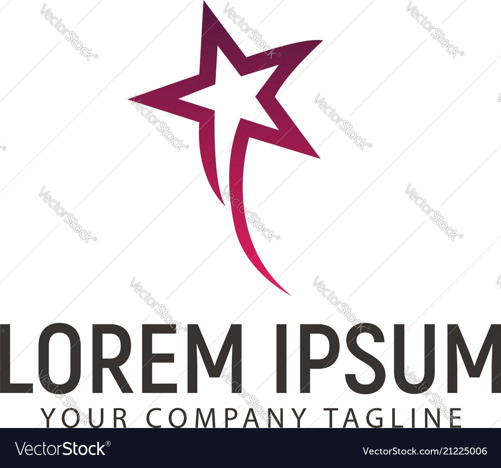 Fly star logo design concept template