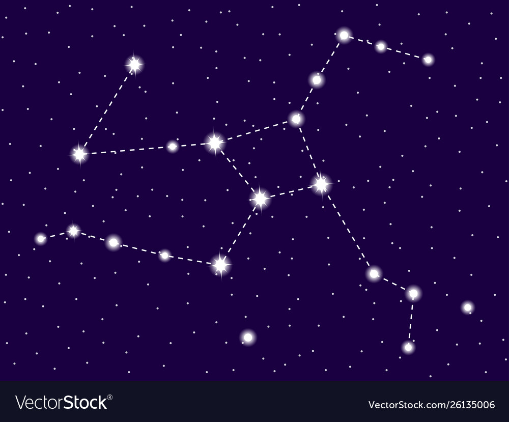 Hercules Constellation Starry Night Sky Cluster