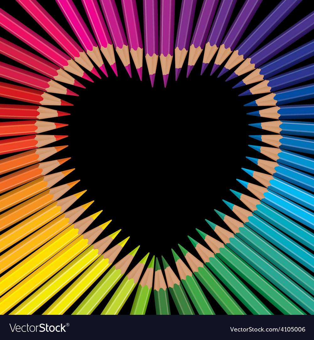 Pencils heart