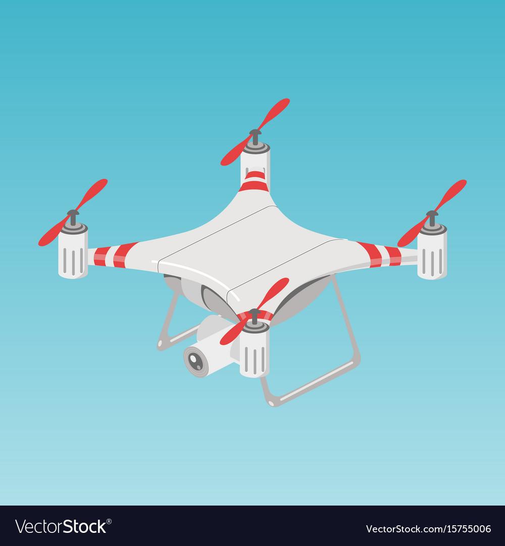 Quadrupter drone color isometric