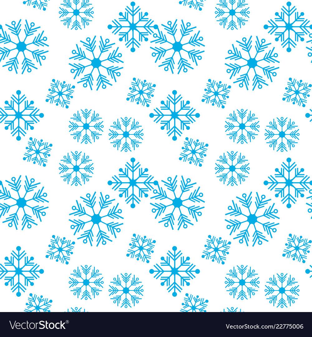 Seamless pattern winter