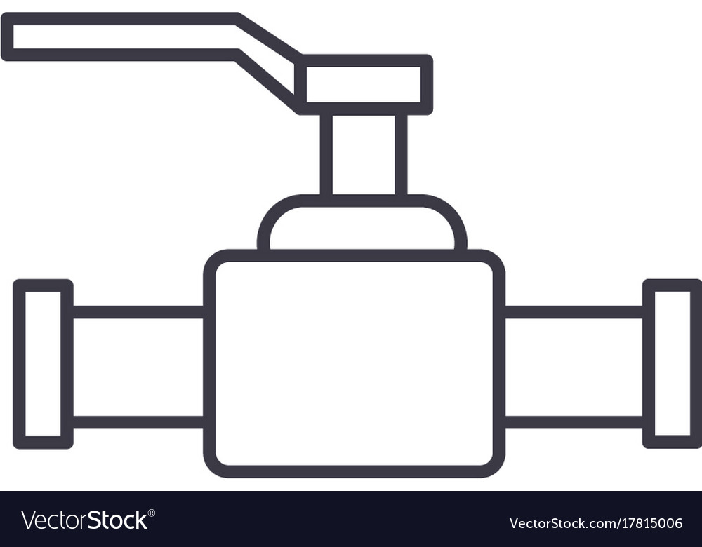 Valve line icon sign vector image