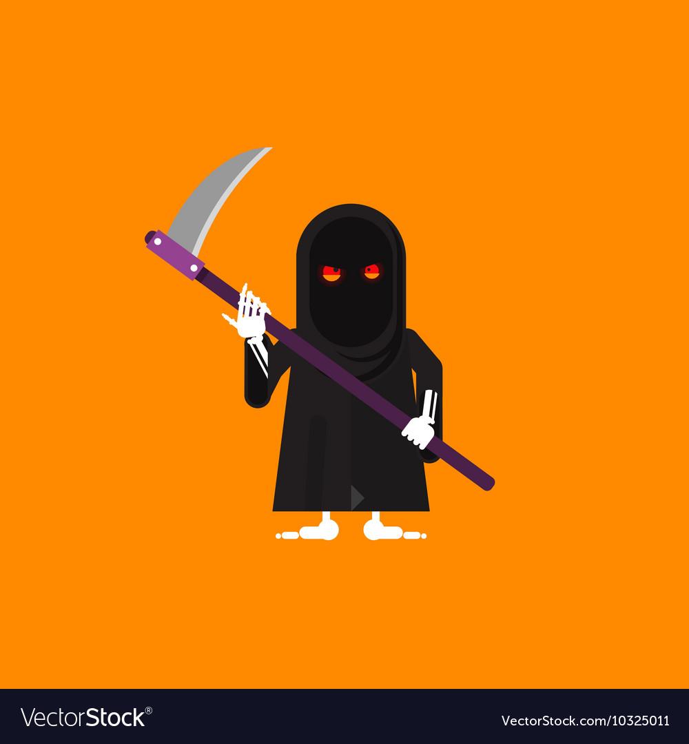 A scytheman character for halloween