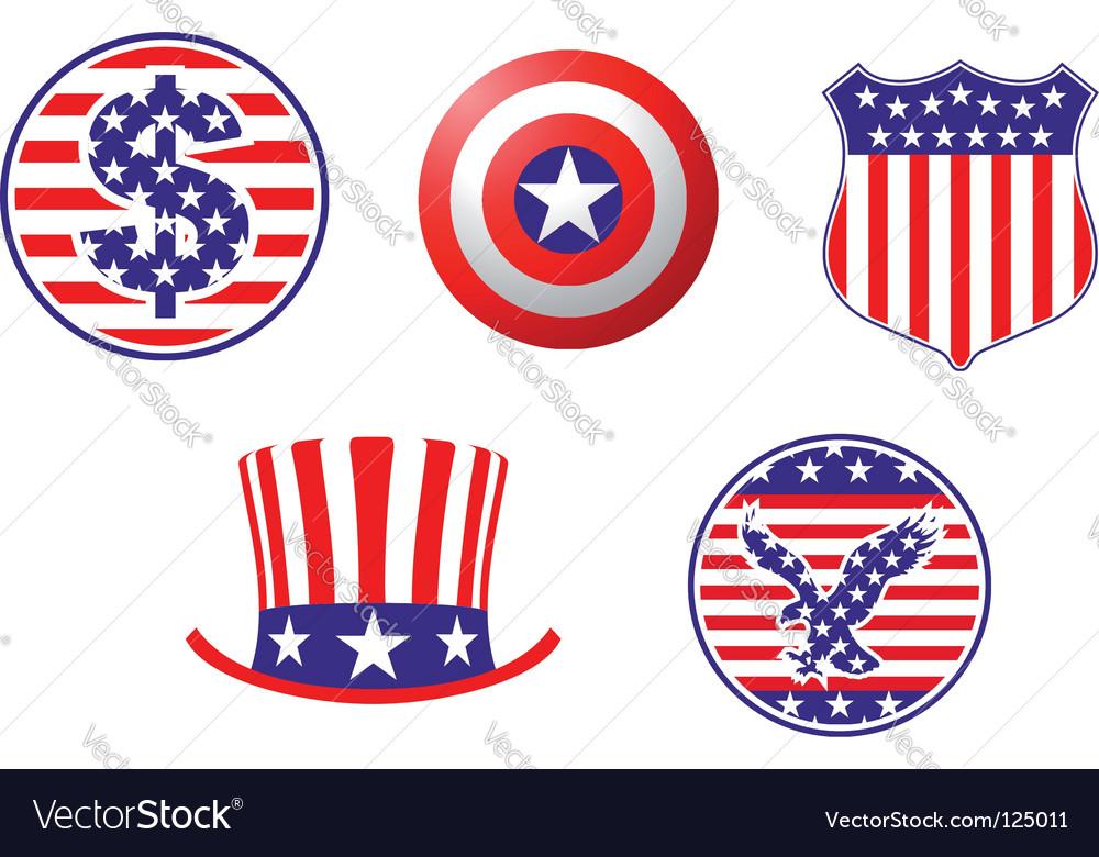 American Patriotic Symbols Royalty Free Vector Image