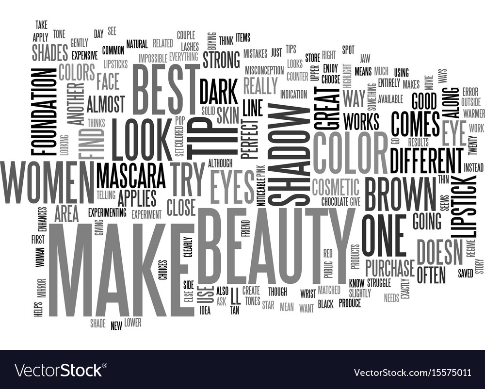 Beauty make up text word cloud concept