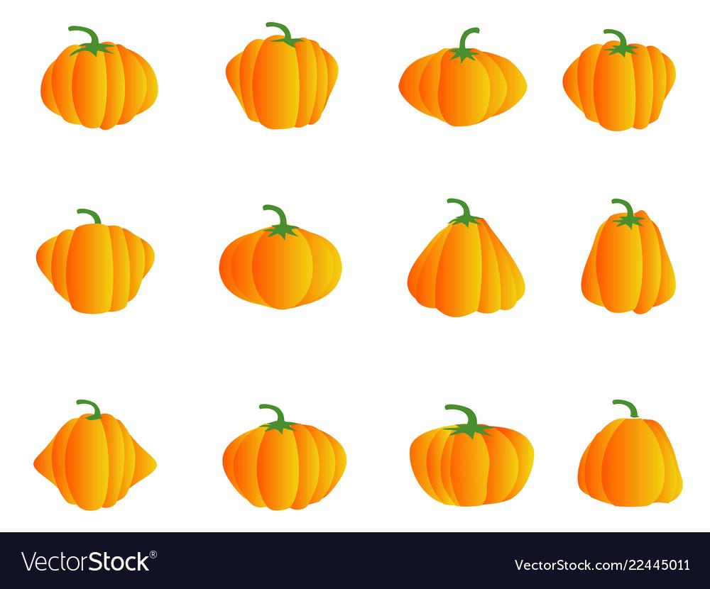 Color pumpkin icons