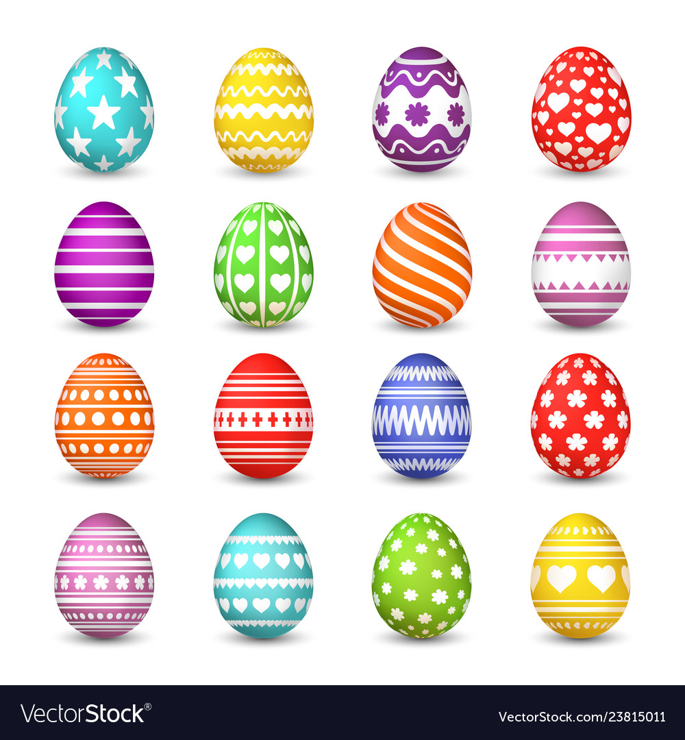 Easter eggs collection christian resurrection