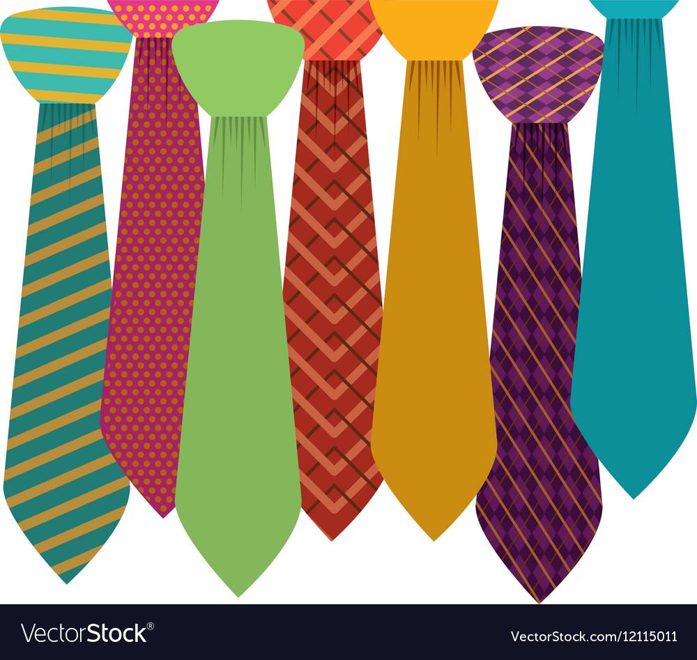 Isolated necktie design