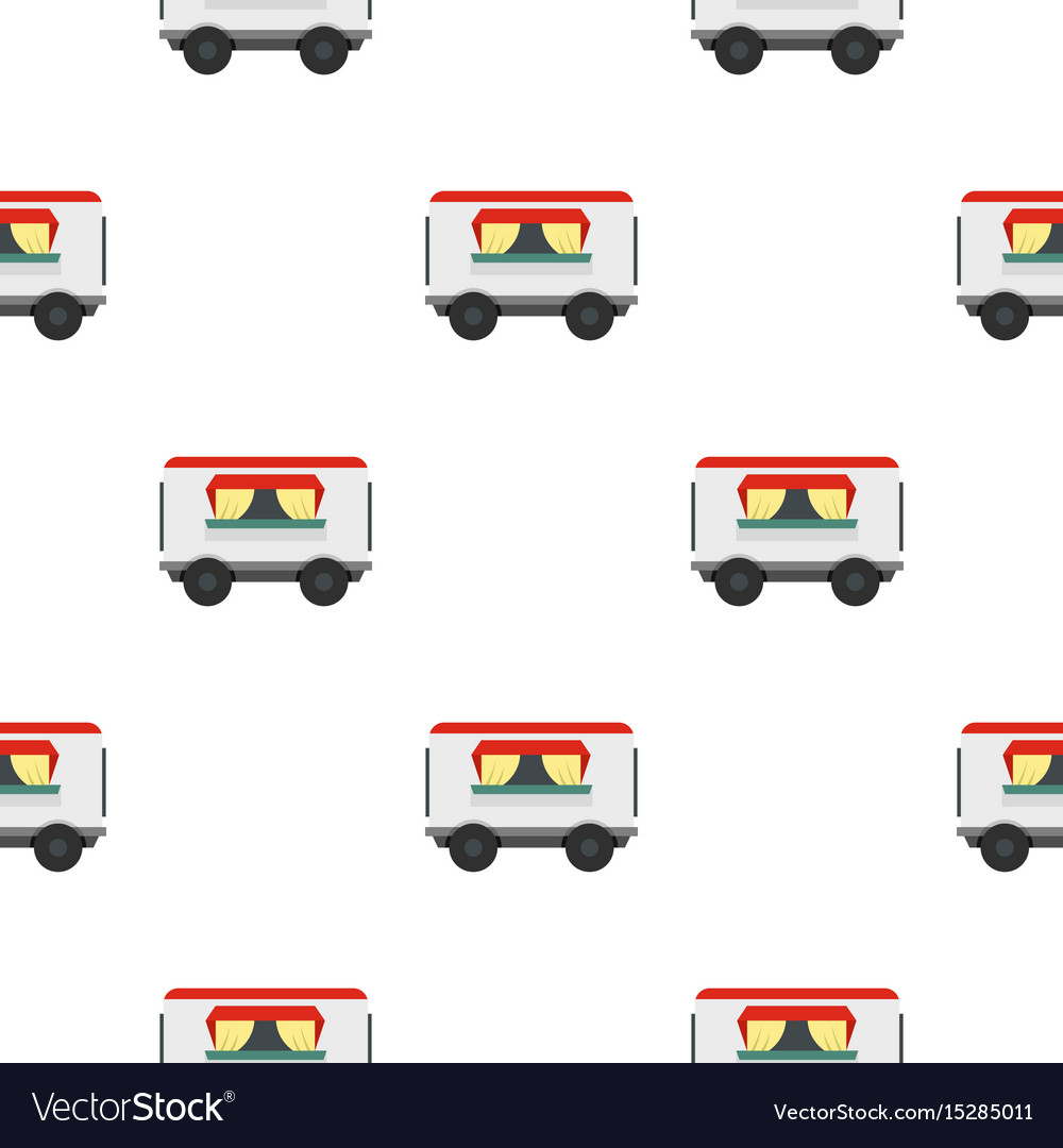 Street food trailer pattern seamless vector image