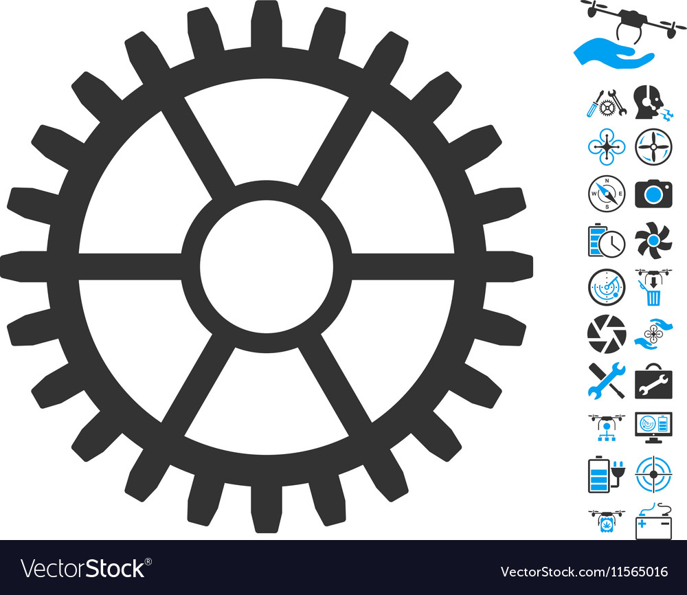 Clock Wheel Icon With Air Drone Tools Bonus