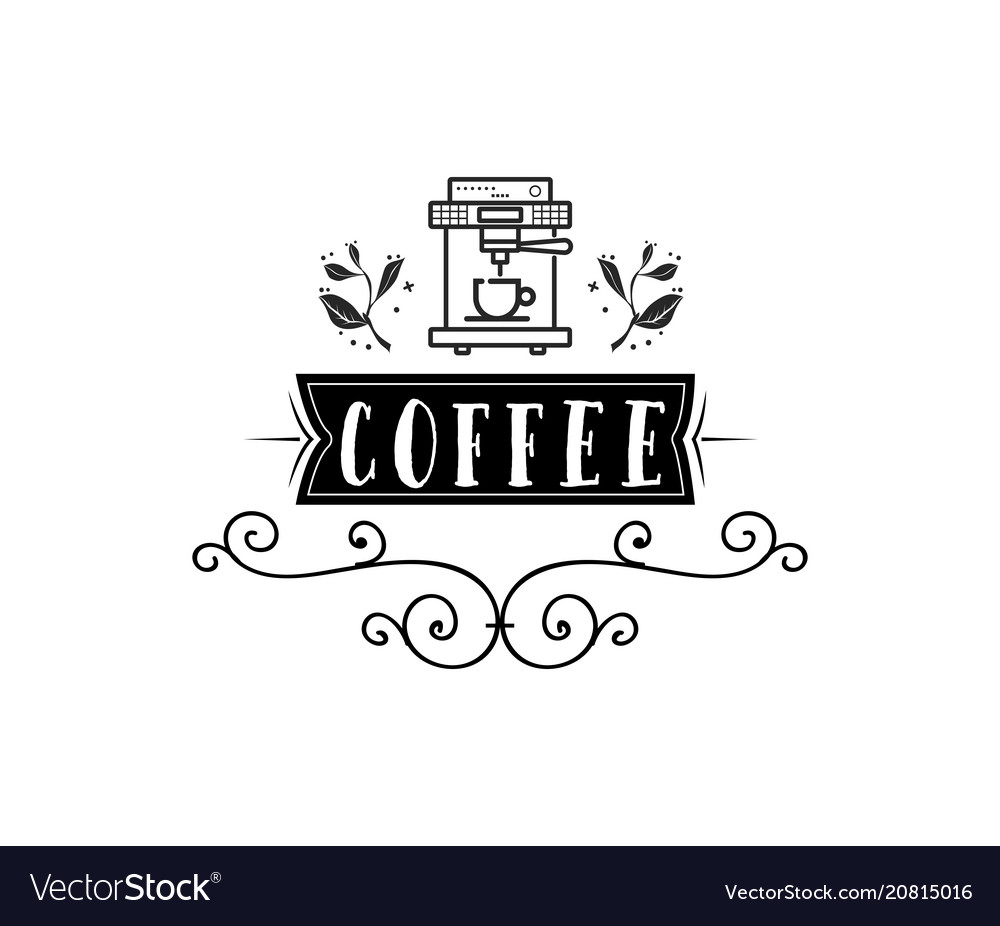 Coffee shop hipster vintage stylized lettering
