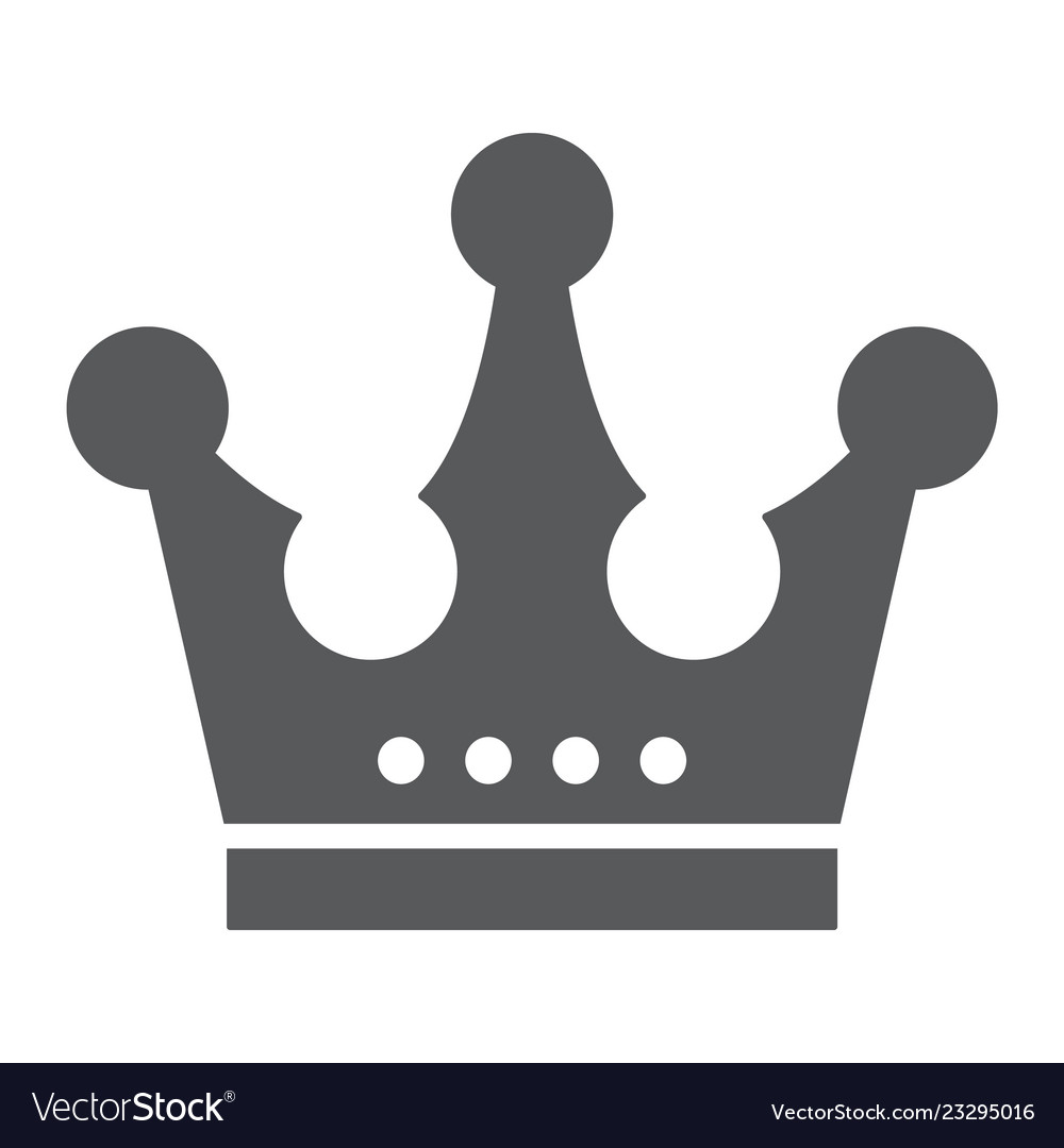 Crown Glyph Icon Jewellery And Accessory Corona Vector Image