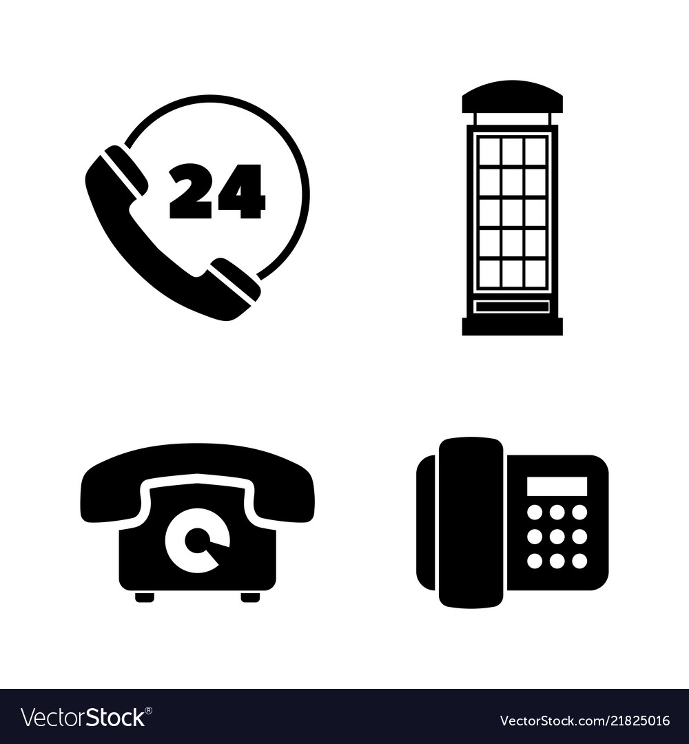 Different phones simple related icons