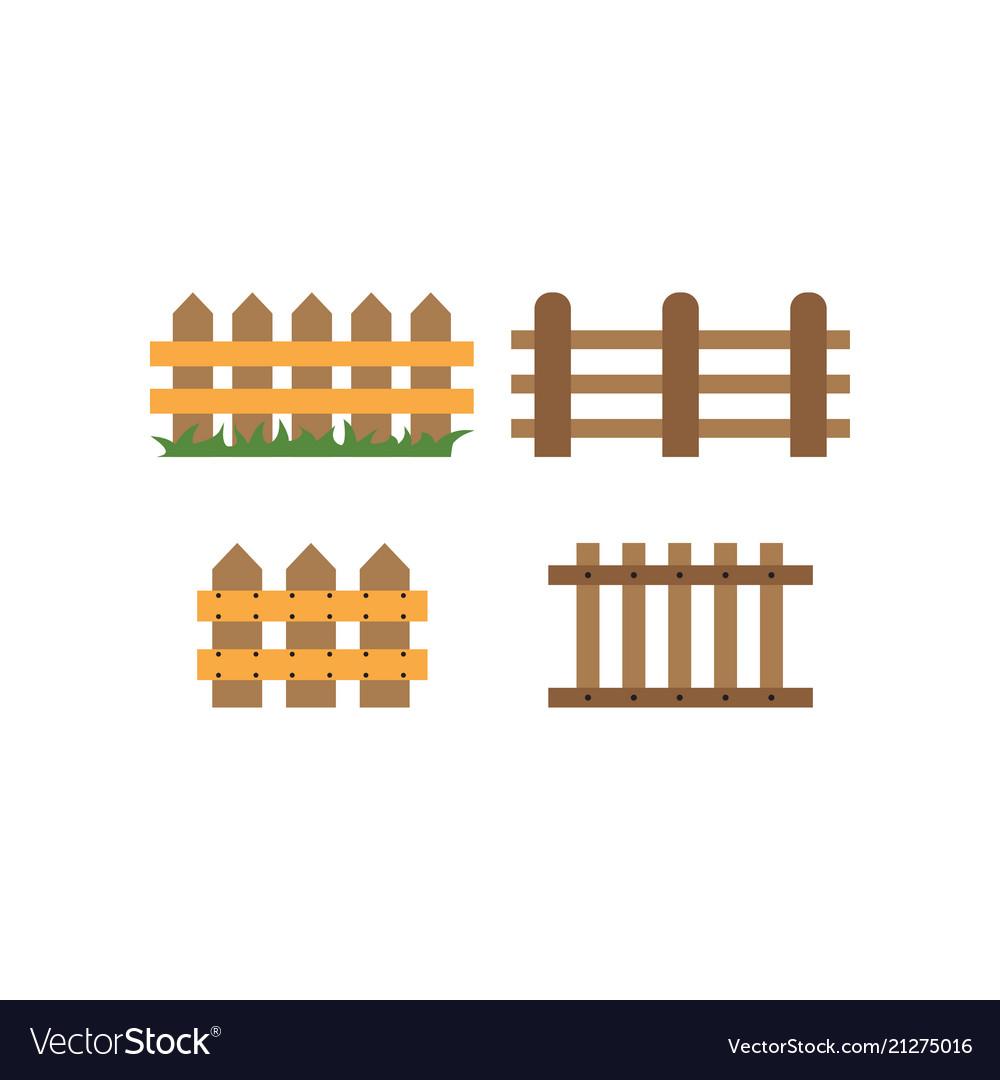 Fence logo design template