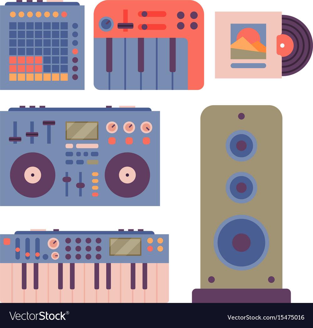 Hip hop accessory musician instruments breakdance vector image