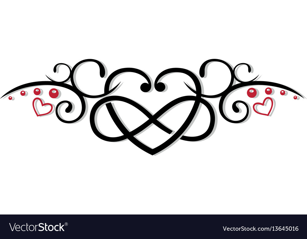 Infinity heart love vector image