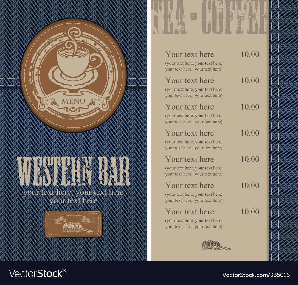 Jeans cafe vector image