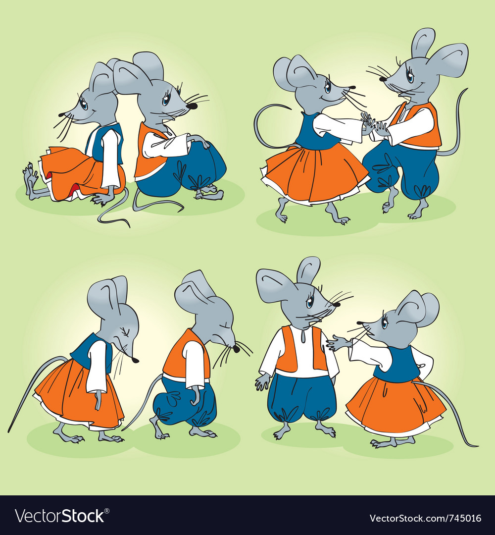 Mice family vector image