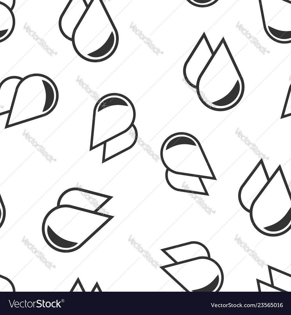 Water drop icon seamless pattern background