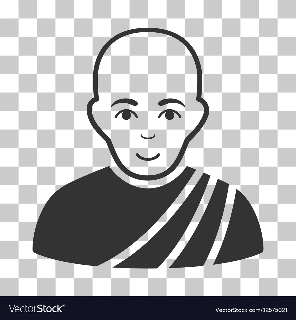 Buddhist Monk Icon vector image