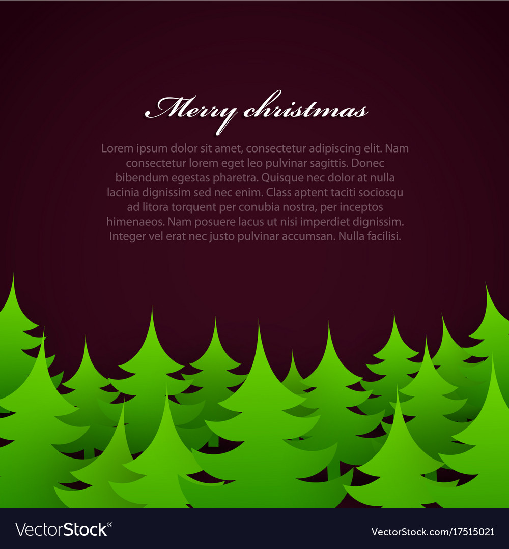 Christmas tree forest background