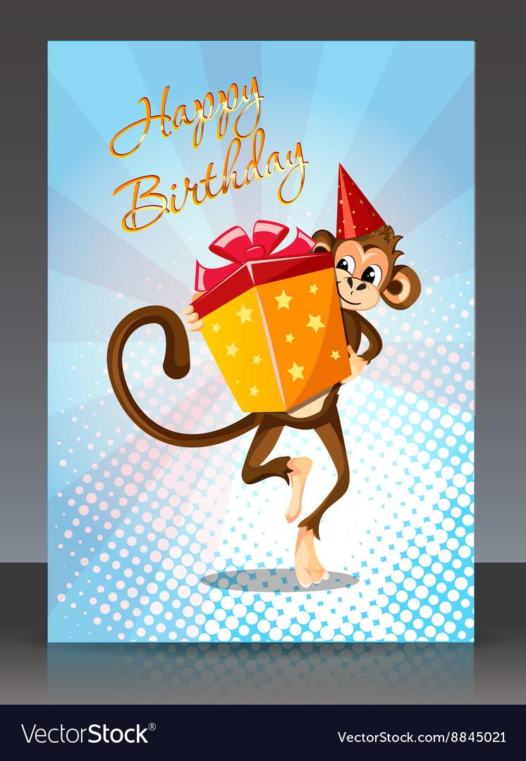 Открытка на день рождения от обезьяны, типа скучаю поздравление