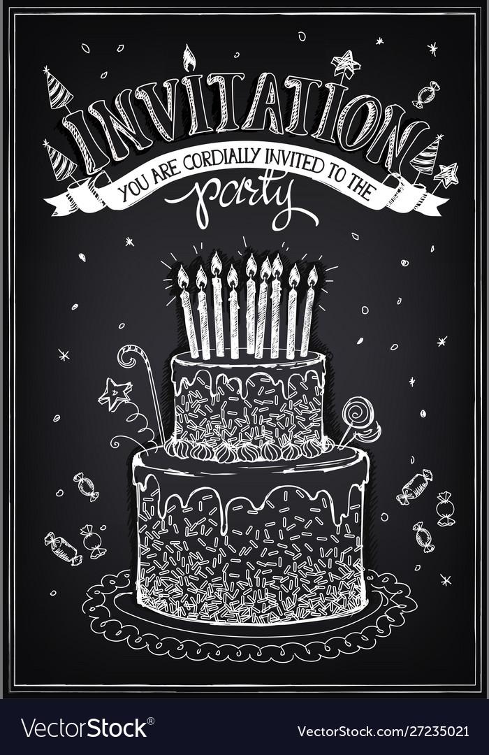 Invitation card to party or birthday birthday