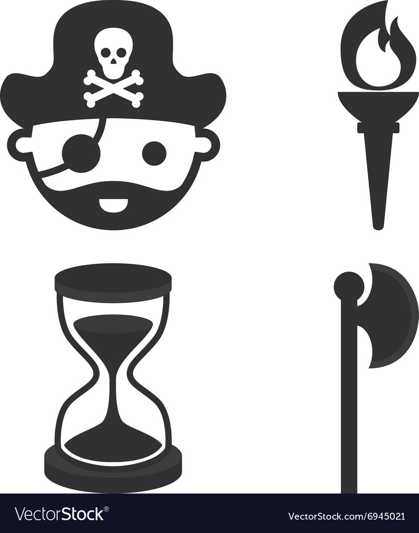 Pirate Objects vector image