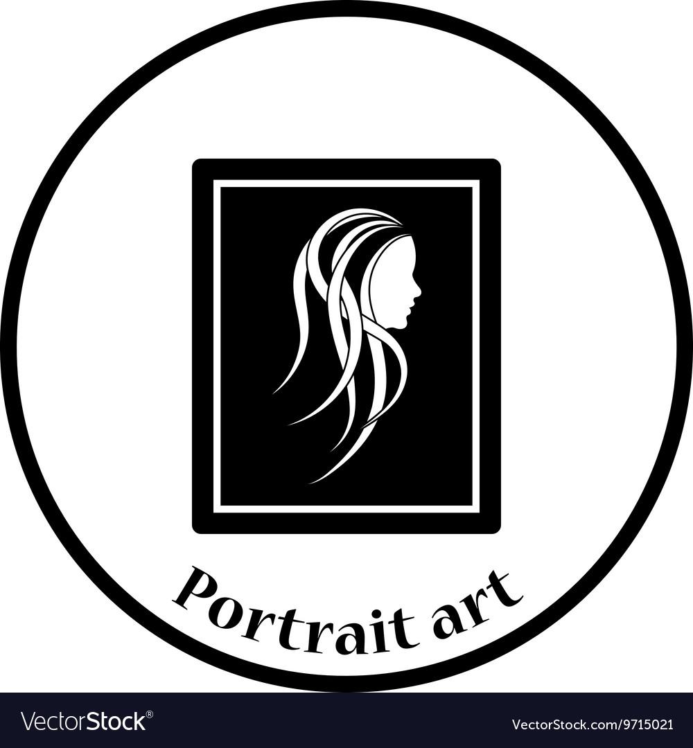 Portrait art icon vector image