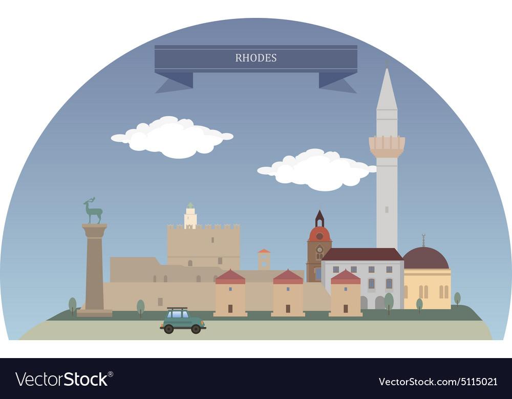 Rhodes vector image