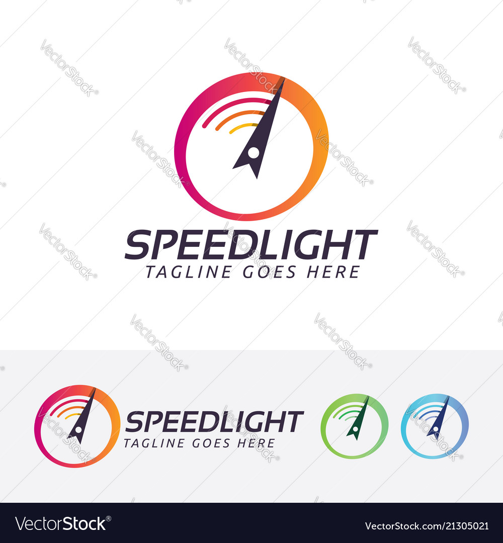 Speed light logo design