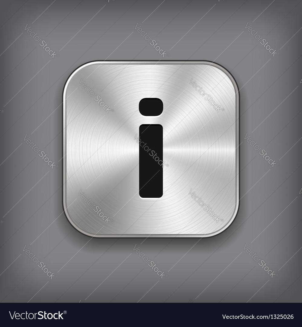 Info icon - metal app button
