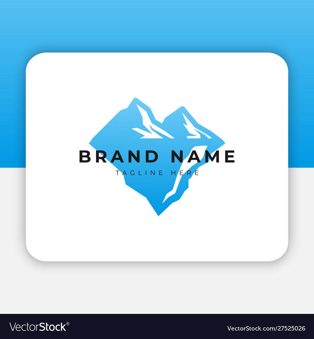 Mountain ice logo design inspiration