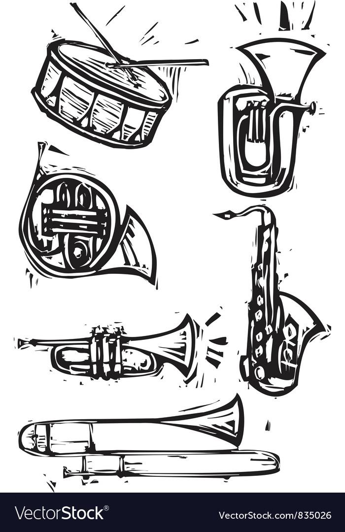Musical Instrument Set vector image