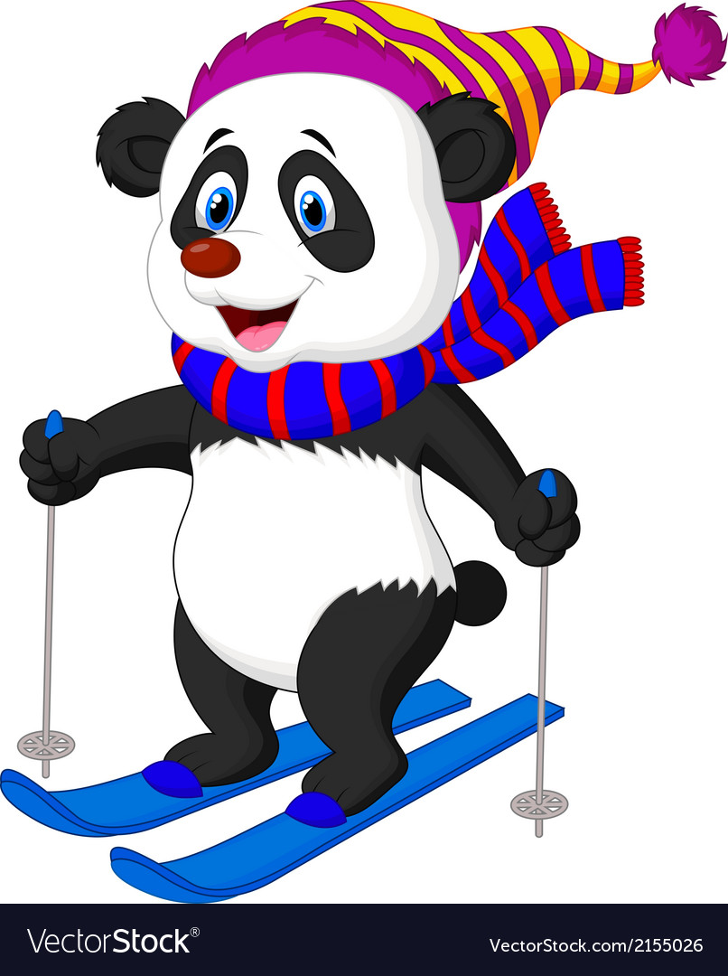 Image result for animal skiing cartoon