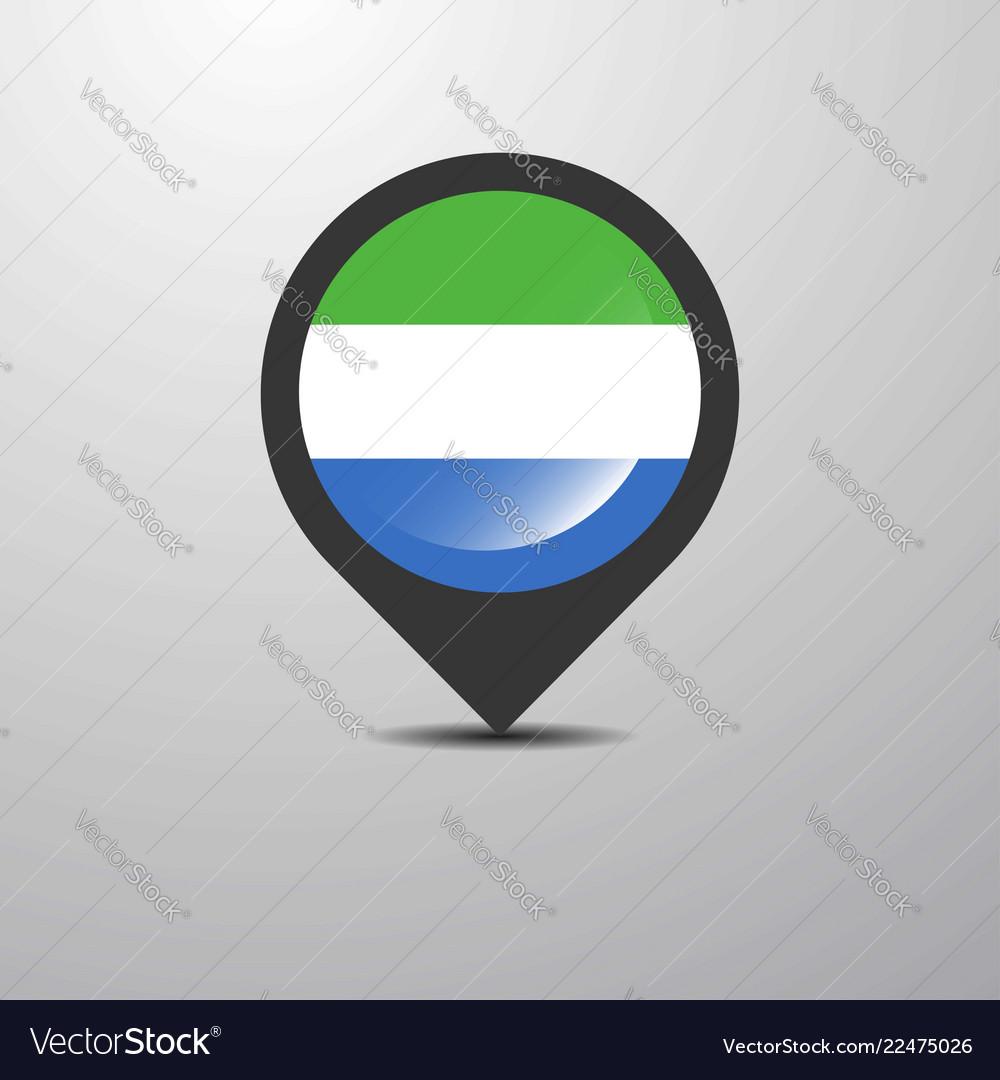 Sierra leone map pin