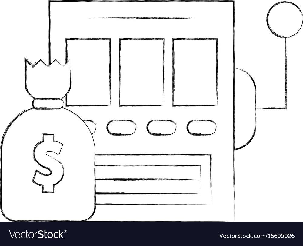 Slot machine with bag money