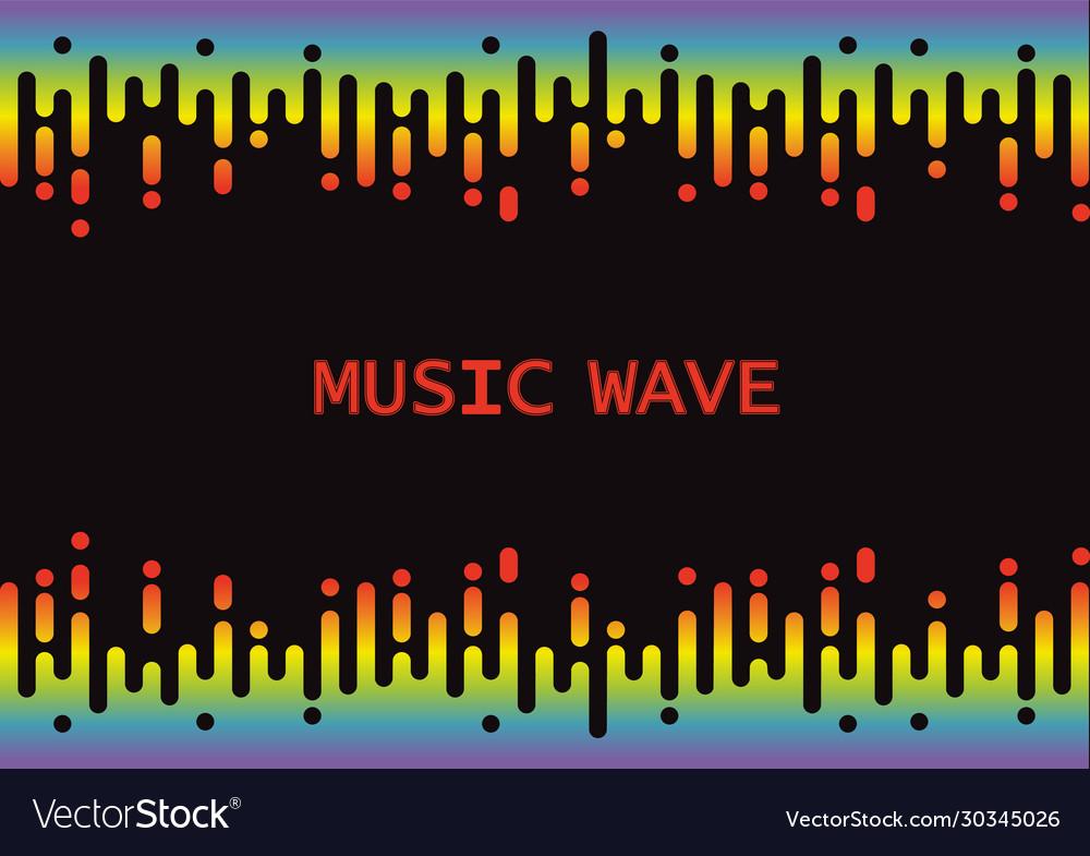 Wave 3d rainbow pulse music player on black