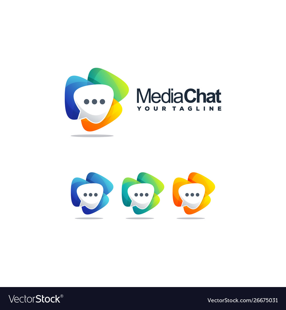 Awesome media chat logo design