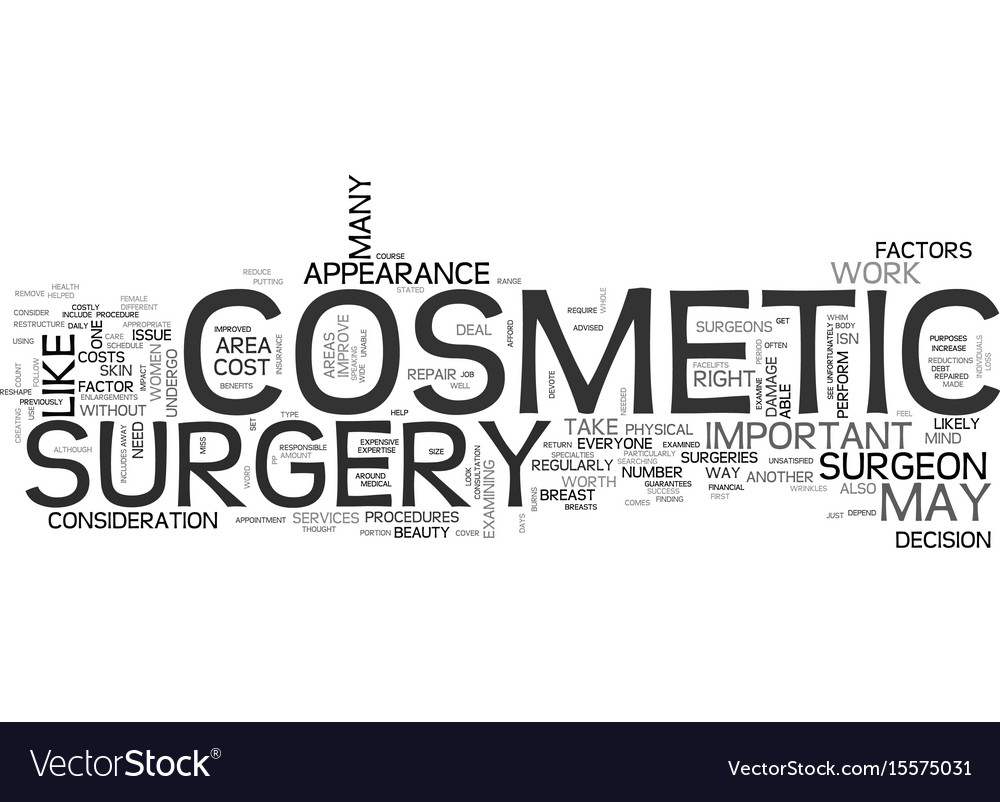 Beauty should you undergo cosmetic surgery text