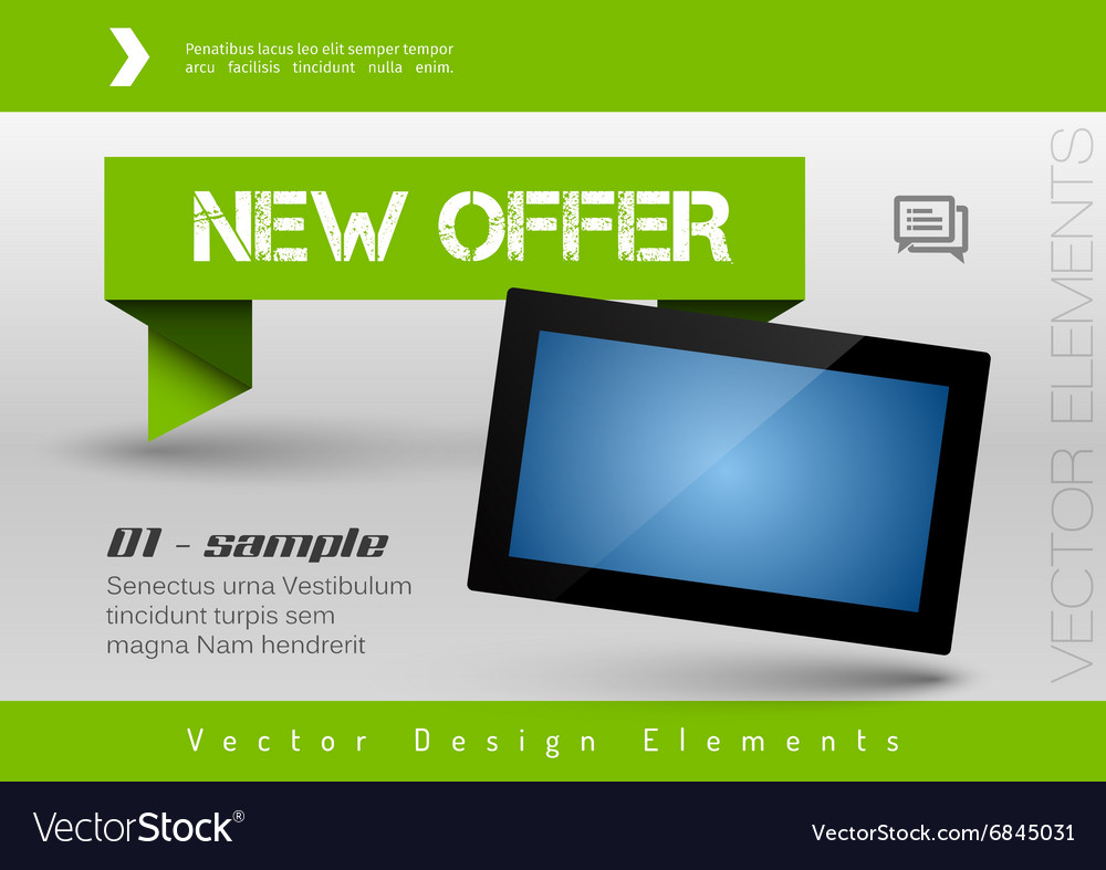 Business banner with modern display design vector image