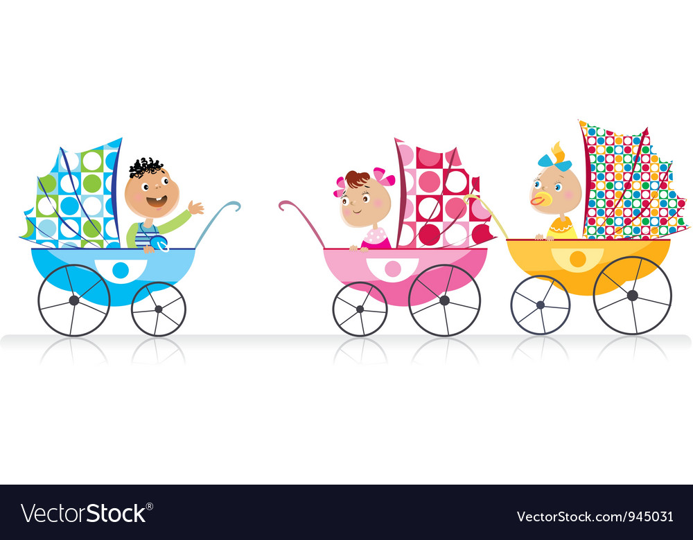 Cute babies vector image