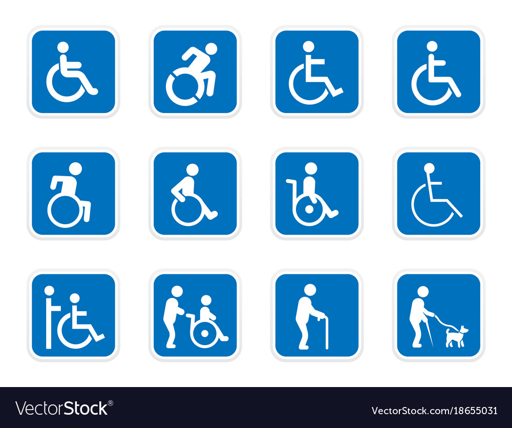 Handicap icons disabled people