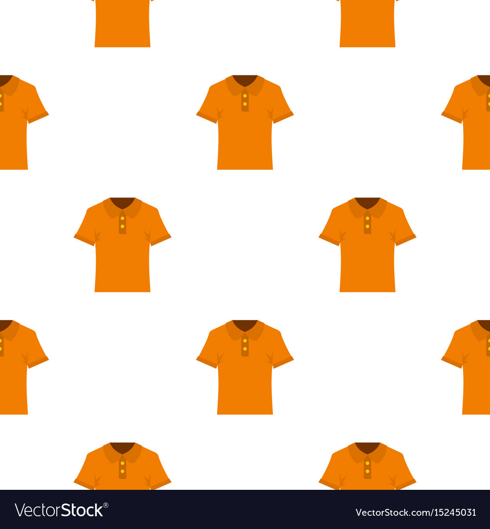 Orange men polo shirt pattern seamless