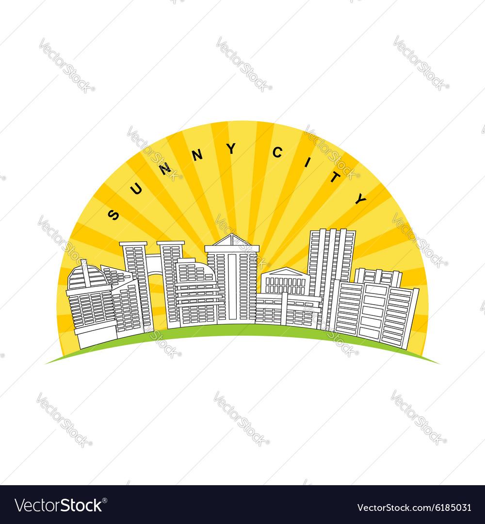 Sunny city Logo for new modern prestigious