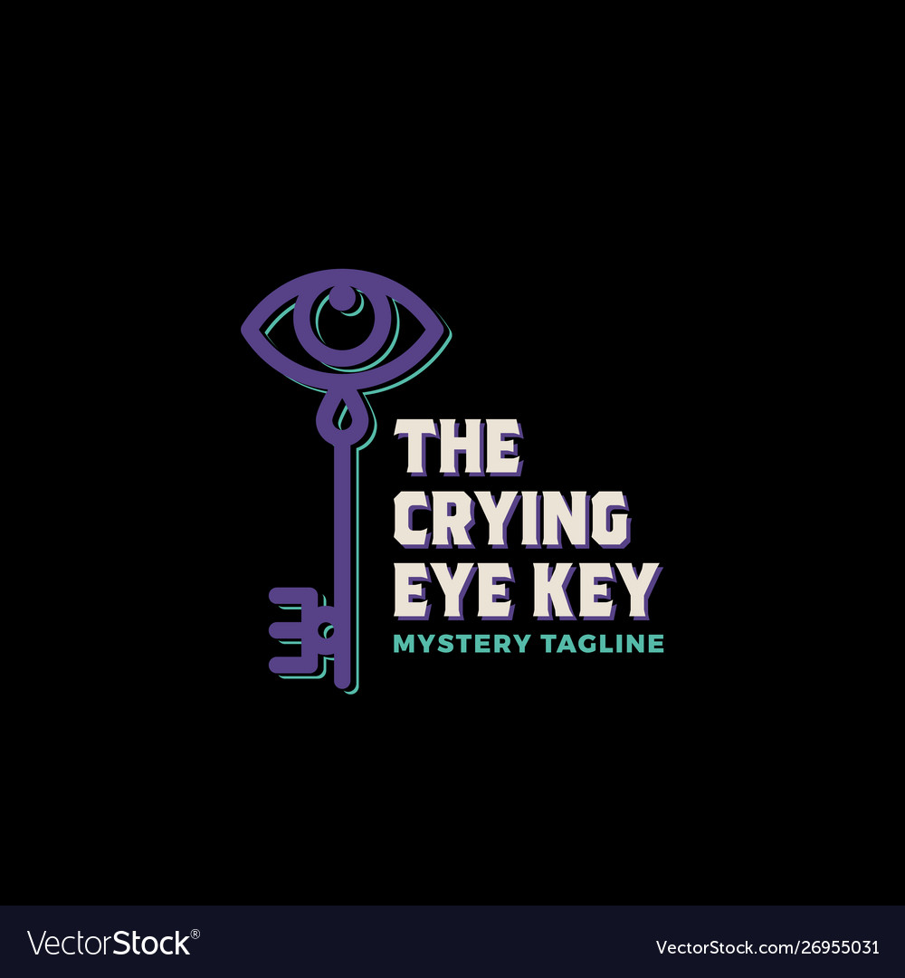 The crying eye key abstract sign symbol